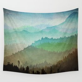 Watercolor Hills Wall Tapestry