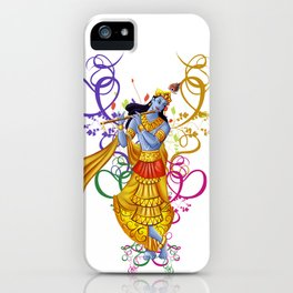 Divine Music with Krishna iPhone Case