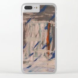Stand out on a rainy day Clear iPhone Case