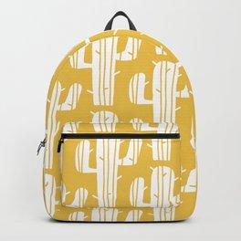 Mid Century Modern Desert Cactus Pattern 835 Yellow Backpack