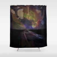 pain Shower Curtains featuring Pain by DTGTEEZ