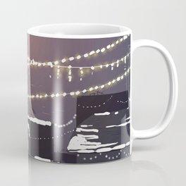Snowy Night in the City - Manhattan New York City Winter Skyline Coffee Mug