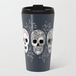 Celebracion de Gris_Calaveras Sugar Skulls line_RobinPickens Travel Mug