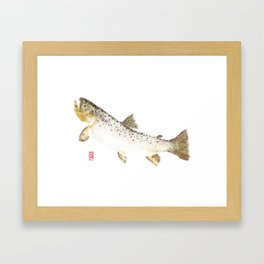 Brown Trout - Gyotaku Framed Art Print