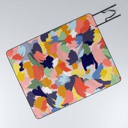 Bright Paint Blobs Picnic Blanket