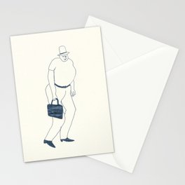 man with briefcase Stationery Cards