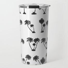 solar palm beach in a dark color Travel Mug