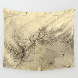 Vintage Map of The Colorado River (1858) Wall Tapestry