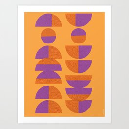 Circles Marks Art Print