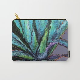 BLUE DESERT AGAVE CACTI PASTEL ART Carry-All Pouch