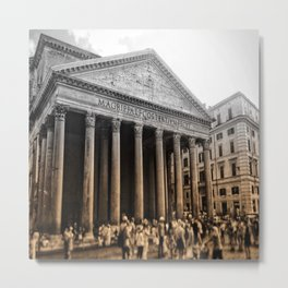 Agrippa built the Pantheon Metal Print