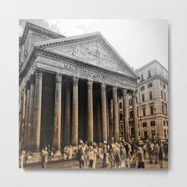 Agrippa built the Pantheon Metal Print