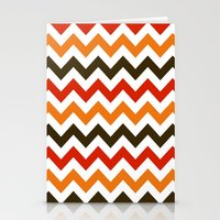 thanksgiving Stationery Cards featuring Thanksgiving Chevron by Designs By Misty Blue (Misty Lemons)