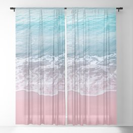 Pink Ocean Beauty Dream #1 #wall #decor #art #society6 Sheer Curtain