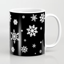 Snowflakes | Black & White Coffee Mug