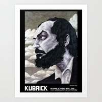 kubrick Art Prints featuring Kubrick by madbaumer37