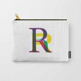 """Serif """"R"""" Carry-All Pouch"""