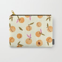 Peach fruit hand drawn illustration pattern Carry-All Pouch