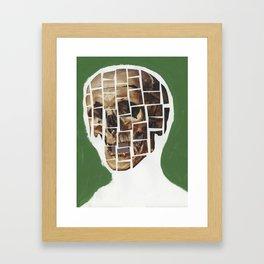 Skull-Saic Framed Art Print