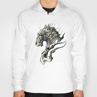 horse Hoodies featuring Horse by Nuam