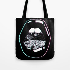 Space Lips Black Tote Bag