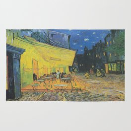 Vincent can Gogh's Cafe Terrace at Night Rug