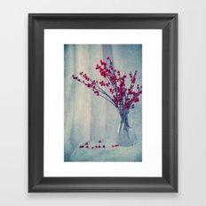 red pearls Framed Art Print