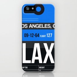 LAX Los Angeles Luggage Tag 3 iPhone Case