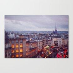 Rainy Paris. Canvas Print