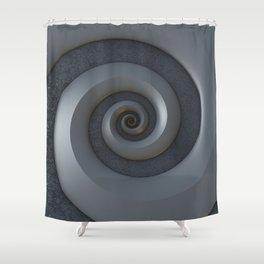 Gray 3-D Spiral Shower Curtain