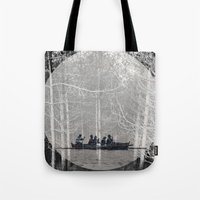 moonrise Tote Bags featuring MOONRISE by Mari