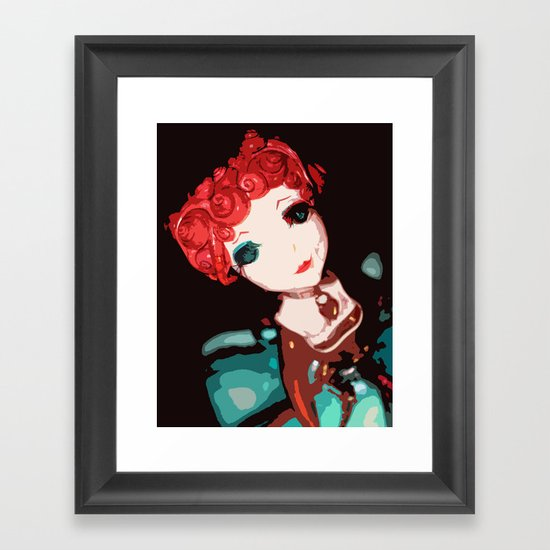 Locket Heart Framed Art Print