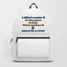 Funny One-Liner Gym Joke Backpack