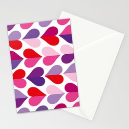 Love and Kisses in Ultra Violet Stationery Cards