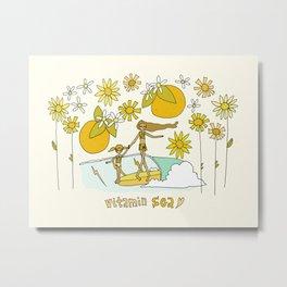 vitamin sea // mother love // retro surf art by surfy birdy Metal Print