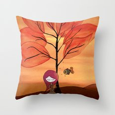 The beauty around us Throw Pillow
