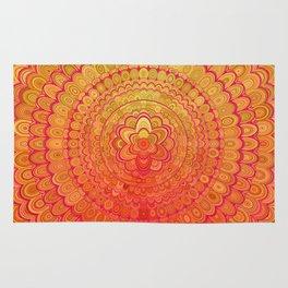 Aztec Flower Mandala Rug