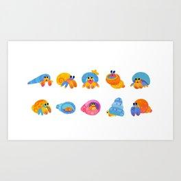 Hermit Crab Art Print