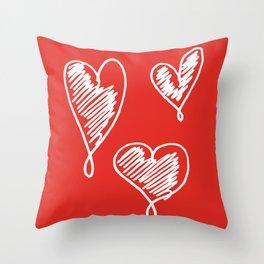 friends hearts Throw Pillow