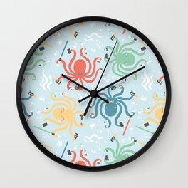 Nerdy Octopuses Wall Clock
