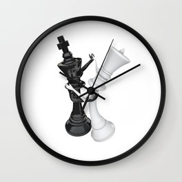 Chess dancers Wall Clock