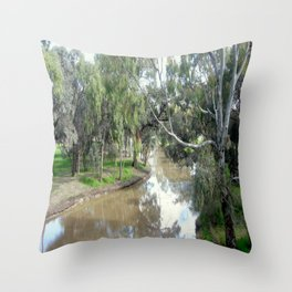 Wimmera River Throw Pillow