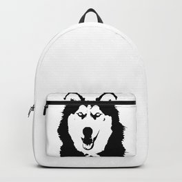 Black and white husky Backpack