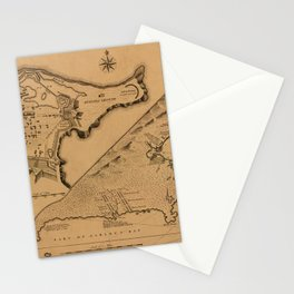 Map of Louisbourg 1757 Stationery Cards