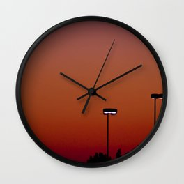 Lights in the Sunset Wall Clock