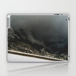 ominous snow storm in the valley Laptop & iPad Skin