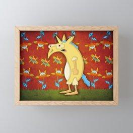 Flower Unicorn Framed Mini Art Print