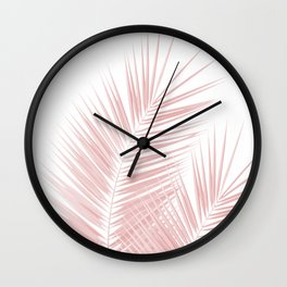 Blush Pink Palm Leaves Dream - Cali Summer Vibes #1 #tropical #decor #art #society6 Wall Clock