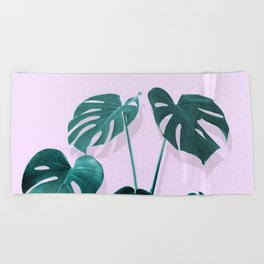 Monstera Palm on Musk Beach Towel