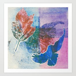 Print Bird & Leaf Art Print